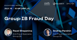 Group IB- Fraud Day, Educational Seminar @ https://go.group-ib.com/Fraud-Day-Real-Security-Registration